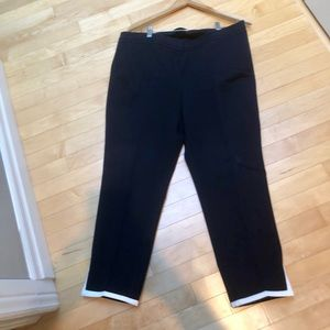 Talbots navy with white trim crop pants - size 14p